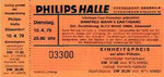 Poster - Philipshalle Dusseldorf Germany 10-April-79