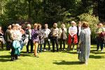 Besuch des Gartens von Frau Nietfeld von Waeber