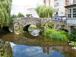 Brücke vor der Herberge in Caldas de Rais