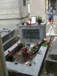 Am Grab von Jim Morrison