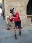 Musizierender Pilger