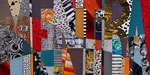 Technique mixte, encre, collage, aquarelle...  20X40 cm En vente chez Tokade, Toulouse