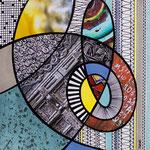 Technique mixte, encre, collage, aquarelle... 19X19  -  En vente chez Carré d'Artistes, Amsterdam