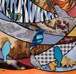 Sweet Birds - 25X25 cm - VENDU