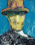 El hombre del sombrero, 100x81cm. Mixta. 2000