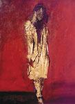 Adolescente en rojo. 65x54cm. Mixta. 2000