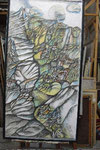 Sch 09 Triptychon Le dejeuner sur l'herbes, Linker Teil, 1983, Farbstift, 180x96