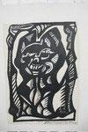 K13 Selbst als Schnick, 1961,  Pinsel, Tusche, 60x43