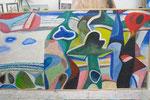 Sch 10 Am Gestade. 1987, Öl, 120x250