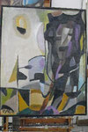 Sch 18 Selbst als Kopffüßler, 1953, Tempera, 100x80