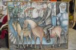Sch 11 Rittergut, 1993, Farbstift, 120x150
