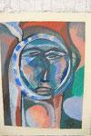 K19 Selbst als Spiegelheinrich, 1970, Aquarell, 65x48