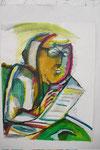 K23 Selbst als Literat, 1981, Tusche, 65x50