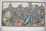 K02 Paternoster-Landschaft, 2007, Farbstift, 113x210