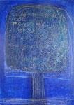 The Beautiful Healing Tree - Blu II,  2012, mixed media on canvas, 33 x 24 cm