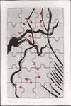 Flor do Chá - Serigrafia sobre puzzle - 10 x 15 cm - 2012