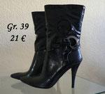 Schwarze Stiefel, Stiletto-Absatz, Neuware