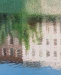 Zwei Häuser | 2013 | 100 x 80 cm | Acryl auf Baumwolle