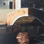 Brücke im Licht | 2016 | 80 x 80 cm | Acryl auf Baumwolle