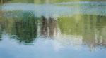 Spiegelung | 2006 | 100 x 180 cm | Acryl auf Baumwolle