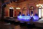 Der DJ Platz mit Voice Acoustic MUFU12ND Monitor
