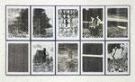 ohne Titel 1 - 10, Monotypie, Öl auf Papier, je 70,0 x 50,0 cm, 2015
