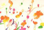 """""""花シリーズ""""  watercolor,acrylic,paper 23.5×34cm,2007"""