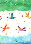 """birds""  watercolor,paper"