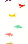 """""""飛んでいく鳥""""  watercolor,paper 10×14.8cm"""