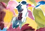 """""""drawing1516"""" watercolor,paper 14.8×21.0  2015"""