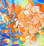 """""""散歩の音""""  water color,acrylic,paper 35.0×35.0cm,2010"""