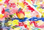 """untitled""  watercolor,paper 16×23cm 2015"