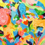 """""""ピクニック""""  acrylic on canvas 41.0×41.0cm,2009"""