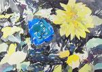 """""""記憶の絵4-2""""  water color,acrylic,paper 18×14cm,2014"""