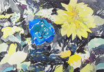 """""""記憶の絵4-2""""  watercolor,acrylic,paper 15.8×22.7cm,2014"""