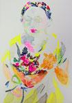 """""""記憶の絵4-1""""  watercolor,acrylic,paper 15.8×22.7cm,2014"""