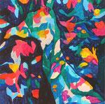 """装飾動物""   acrylic on canvas 45.5×45.5cm,2010"