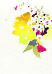 """untitled""  watercolor,paper 10×14.8cm 2015"