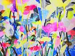 """""""夕日をあと何回みれるか3-2""""water color,acrylic,paper 56×76cm,2014"""
