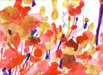 """""""花シリーズ"""" acrylic,watercolor,oil pastel,pencil  23.5×34cm 2007"""