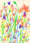 """""""drawing1522"""" watercolor,paper 10×14.8cm 2015"""