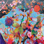 """色眼鏡""   acrylic on canvas 100×100cm,2010"