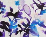 """""""散歩の音""""  water color,acrylic,paper 27.3×22.0cm(F3),2010"""