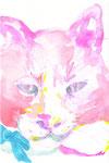 """""""チュン""""  watercolor,paper 10×14.8cm"""
