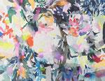 """""""記憶の絵4-4""""  water color,acrylic,paper 18×14cm,2014"""