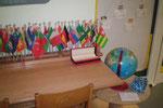 Meine Flaggenleiste und der Arbeitstisch