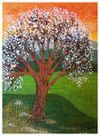Blühender Baum, Acryl, 40x30, 2020