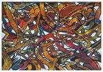 Verflechtungen Abstrakt 12, Acryl, 34x48, 2020