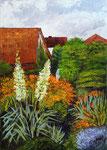 Blühender Garten im Juni, 70x50, Acryl, 2018