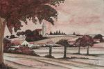 Zillingtal,Mariazellerweg 1954,20x30,Aquarellstift,2019
